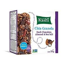 Kashi Chia Chocolate Almond and Sea Salt Chewy Granola Bar Non-GMO 5 Bars, 175g box