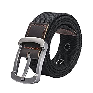Yateen Unisex Canvas Belt Tactical Military Style Woven Belt Jeans Belt
