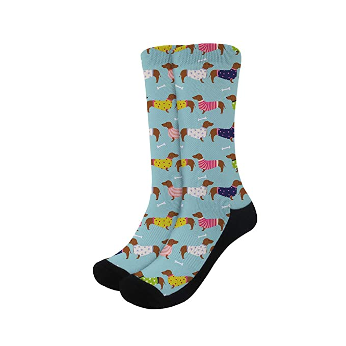buying new famous designer brand world-wide selection of Women's Dachshund Dogs Crew Dress Socks at Amazon Women's ...