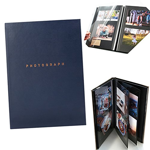 SMCompany Self Adhesive Collage Magnetic Photo Album Scrapbook 40 Pages Navy