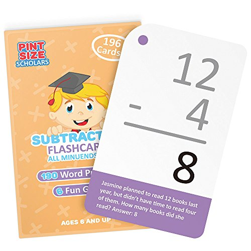 self-checking-subtraction-flashcards-with-word-problems-all-minuends-0-18-by-pint-size-scholars