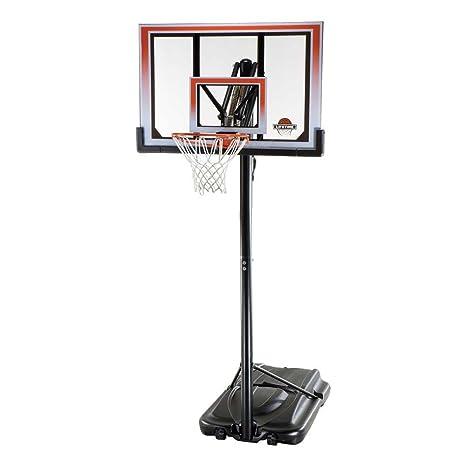 Vida 50 Inch Portable a prueba de roturas baloncesto aro - 71566, Black/Orng
