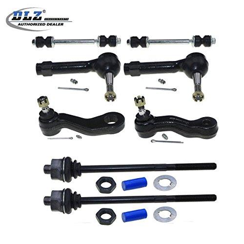 dlz-8-pcs-front-suspension-kit-2-stabilizer-sway-bars-2-inner-2-outer-tie-rod-ends-1-idler-arm-1-pit