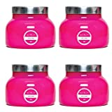 19 oz Capri Pink Signature Jar Volcano (4 pack)