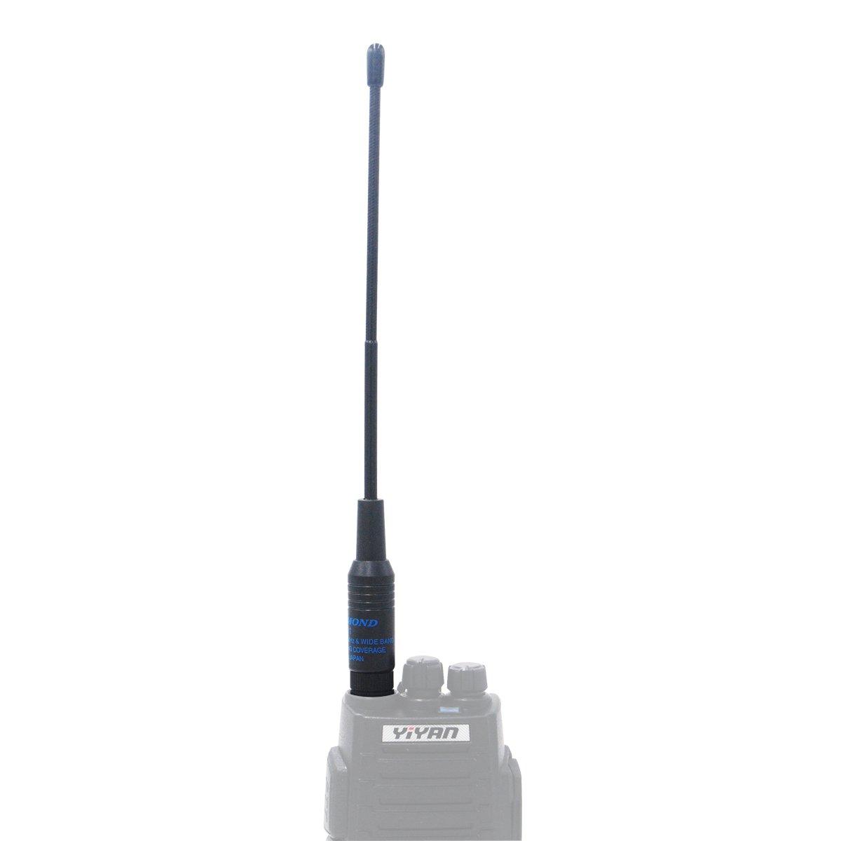 Walkie Talkie Antenna SMA-M//SMA-F//BNC Dual Band VHF UHF High Gain Antennas for Two Way Radio SHR805S, SMA-M