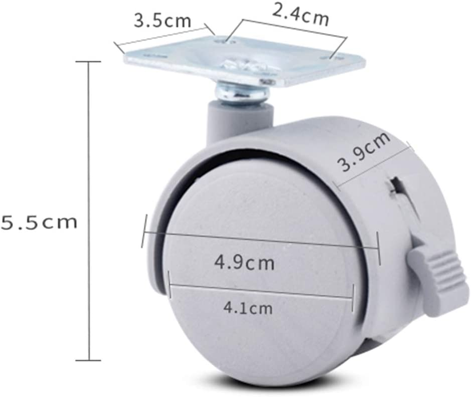 archivadores Mlxy Rueda giratoria Ruedas para Muebles 37.5 mm 1.5 in con Frenos Ruedas Antideslizantes Adecuada para mesitas de Noche
