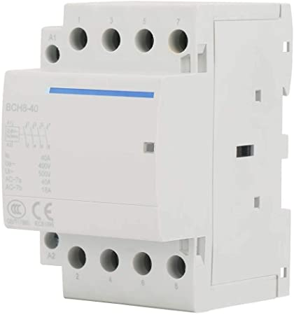 Contactor de CA AC 230V 4P 4NO 40A 24V//230V 50//60Hz Contactor de CA dom/éstico Dise/ñado para aplicaciones dom/ésticas