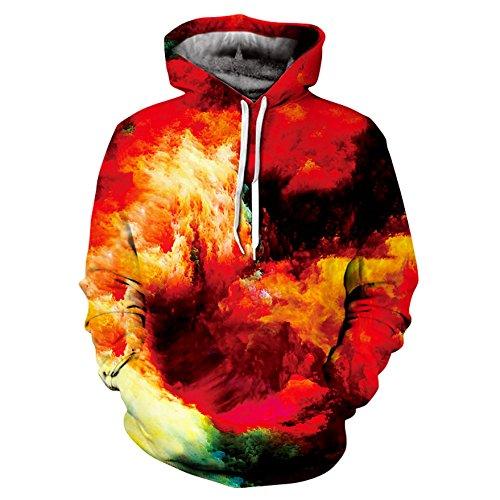 YEbao Männer Pullover Kapuzenpulli Jacke Warm Digitaldruck C Xxxxl YEbaoWei Kleidung