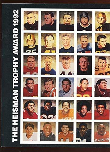 Trophy Heisman 1992 - 1992 Heisman Trophy DAC Program Autographed Vic Janowicz & Gino Torretta LOA - College Programs