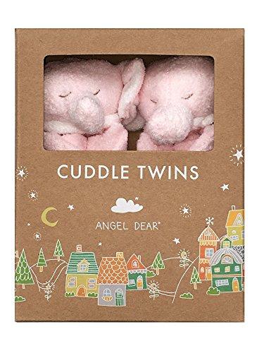 Angel Dear Pink Elephant - Angel Dear Cuddle Twin Set, Pink Elephant