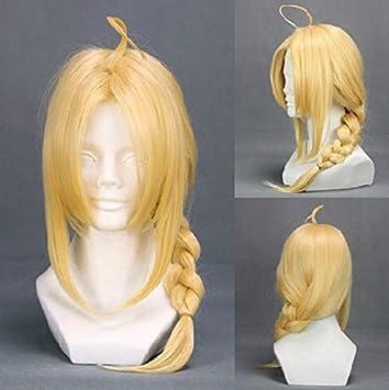 Fullmetal Alchemist Edward Elric Wig Cosplay Blonde Long Hair Anime Unisex