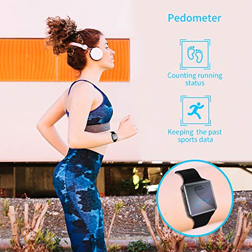 Wiwoo 16GB Bluetooth MP3 Player with Clip for Running, Sports Watch MP3 Player with Voice Recorder, FM Radio, Pedometer, Support up to 128GB