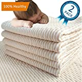 MICROFIRE Waterproof Bed Pad Mattress Protector Incontinence Sheet Baby Toddler Kids Pets Adults 28''X 43'' (L) 2 Packs