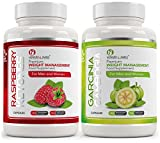 RASPBERRY KETONES 1000mg x60 + GARCINIA CAMBOGIA x60 – SPECIAL OFFER | Max Strength Fat Burners and Garcinia Cambogia Whole Fruit Capsules - Slimming Diet Pills | Suppress Appetite, Boost Metabolism and Block Fat Production for Weight Loss - SPECIAL PROMO OFFER