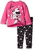 Apparel : Disney Baby Girls' Minnie Mouse 2 Piece Fleece Top and Legging Set