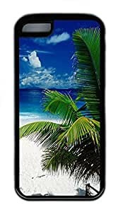 for iphone 4/4s Case Tropical Beach Holiday TPU Custom for iphone 4/4s Case Cover Black
