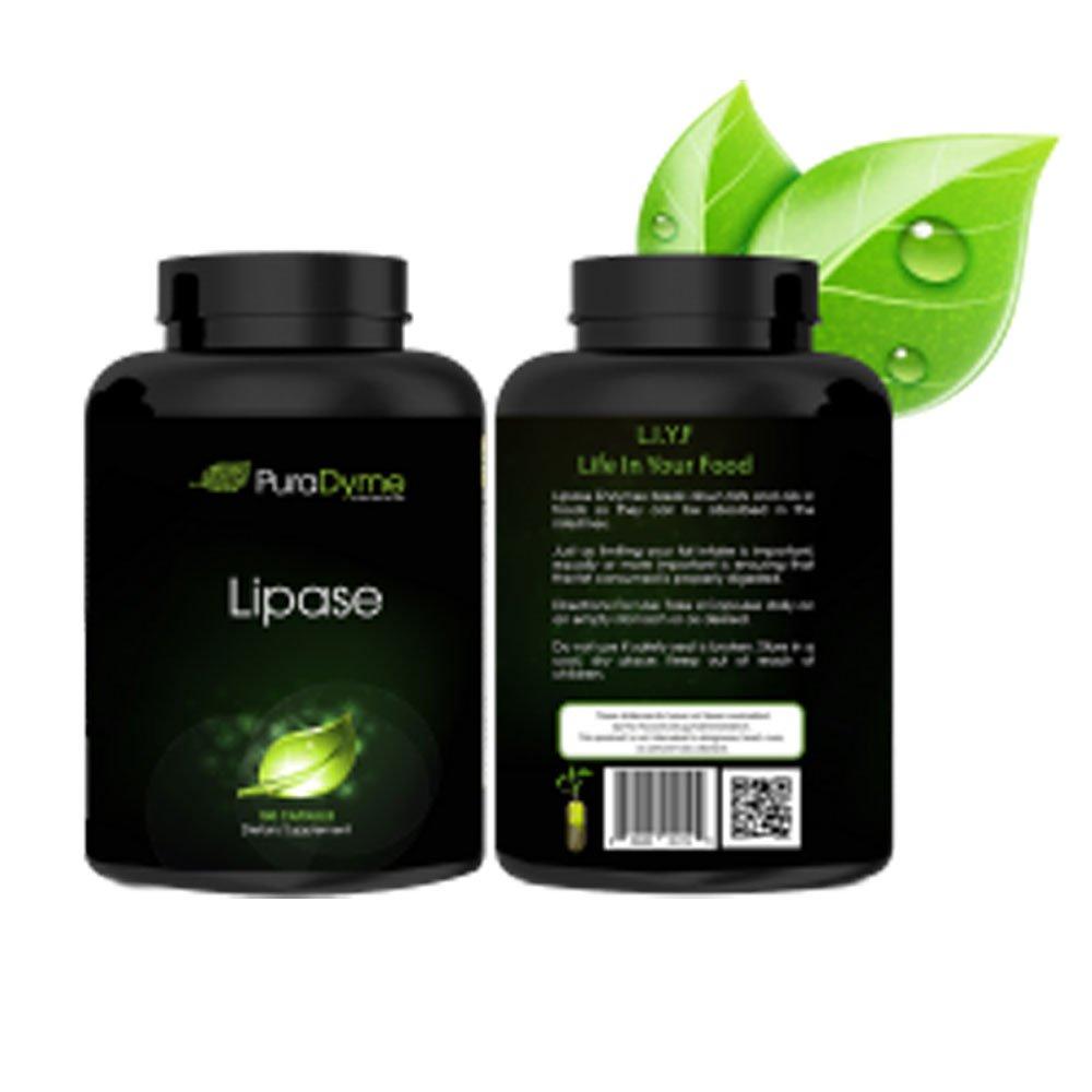 Amazon.com: puradyme lipasa enzima 180 °Cápsulas enzima ...