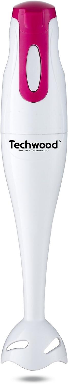 Mauve//Blanc 170 W Techwood Mixeur Plongeant