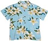 Two Palms Boys Plumeria Shower Rayon Shirt Blue 4