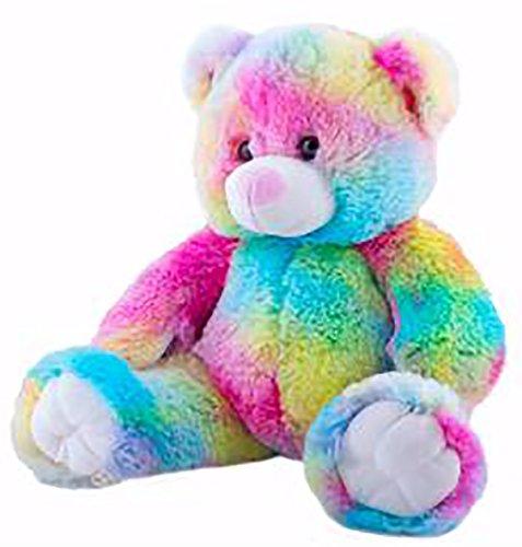 (Cuddly Soft 16 inch Stuffed Rainbow Bear - We stuff 'em.you love 'em!)