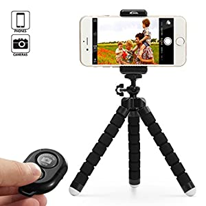 51rS%2B2BasJL. AA300  - Adjustable Tripod Stand Holder for iPhone, Cellphone,Digicam with Common Clip and Distant