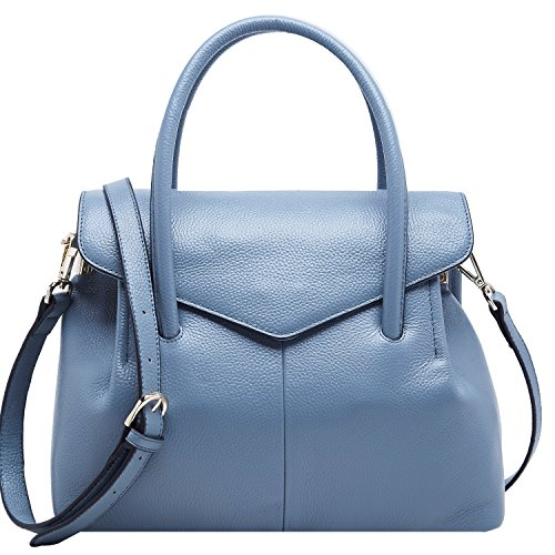 BOYATU Real Leather Handbag for Women Elegant Business Satchel Top Handle Bag (Elegant - Clearance Burberry