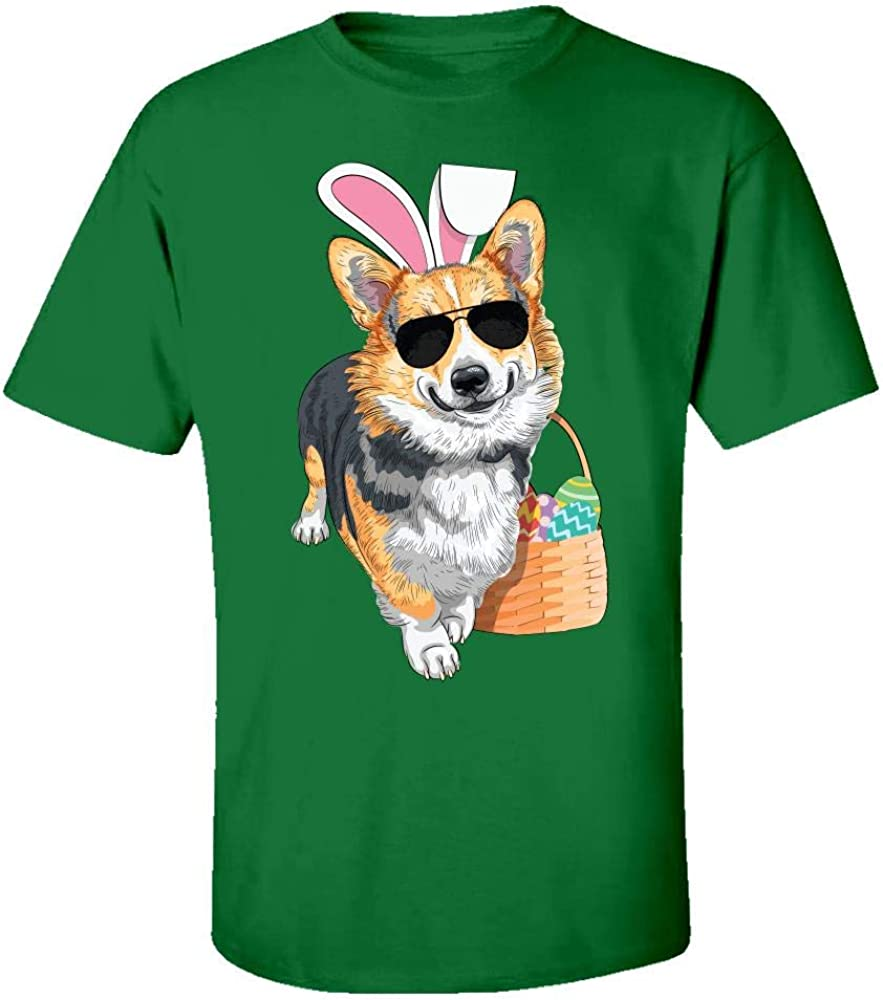 Kids T-Shirt Red Tri-Colored Easter Corgi