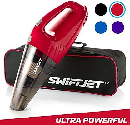 FamilyTool SwiftJet Aspirador de Coche – Alta Potencia 4 KPA,succión de Mano automotriz vacío – 12 V DC 120 W – 14,5