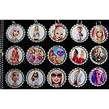 15 Barbie Silver Bottle Cap Pendant Necklaces Set 6