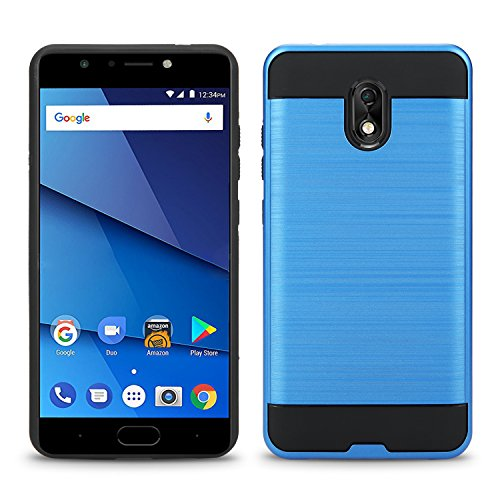 BLU Life One X3 Case, Slim Armor Hybrid Cover [Scratch/Dust Proof] Defender Dual Layer Shockproof Protection Case (VGC Blue)