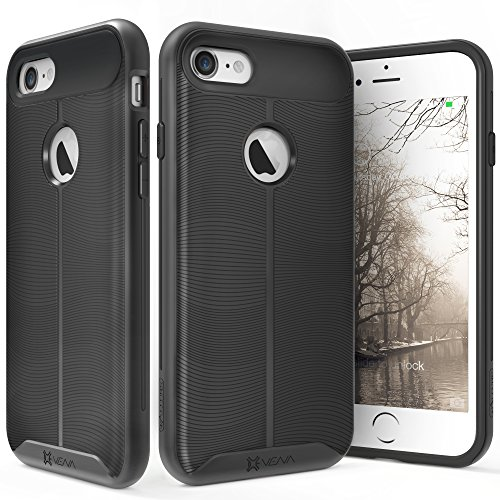 iPhone 7 Case, Vena [vAllure] Wave Texture [Bumper Frame][CornerGuard ShockProof | Strong Grip] Slim Hybrid Cover for Apple iPhone 7 (4.7
