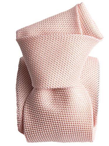 - Elizabetta Men's Italian Silk Grenadine Tie Necktie, Solid Pale Pink