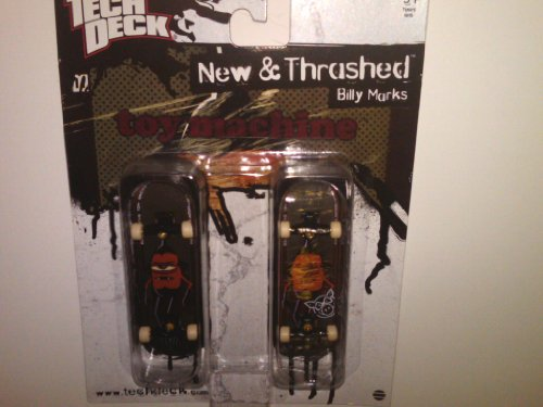 Tech Deck New and Thrashed Billy Marks Toy Machine 96mm Finger Skateboards