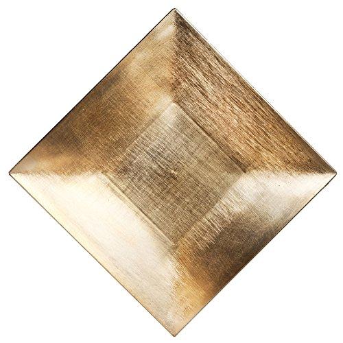 24 pcs 12' Square Charger Plates - Gold