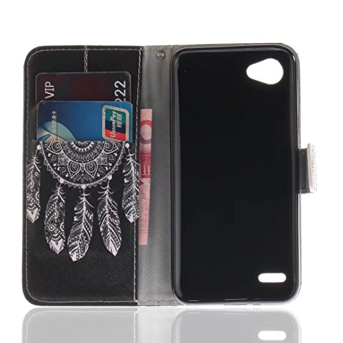 LG G6Mini/LG Q6móvil, cowx funda de piel sintética para LG G6Mini/LG Q6funda Flip Case Funda Negro Campagnolo nula