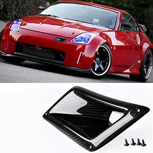 Lindsie-Box Left side Carbon Fiber Front Bumper Air Vents Cover Trim Ducts Intake Fit for Nissan 350Z Z33 ND 2003-2009