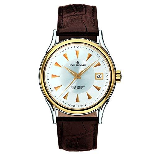 Revue Thommen Men's 20002-2548 Wallstreet Analog Display Swiss Automatic Brown Watch
