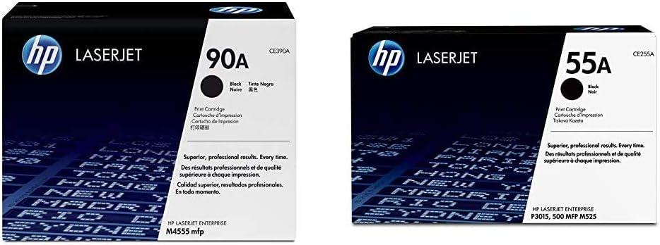 HP 90A | CE390A | Toner Cartridge | Black & 55A | CE255A | Toner Cartridge | Black