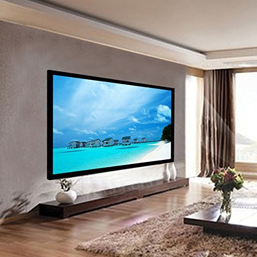 Safstar Aluminum HD Fixed Frame Projector Screen for Home Theater Office Presentation (100'' / 16:9 / 87'' x 50'') by Safstar