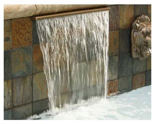 Pentair 581403FCBBF Magicfalls Water Effect Super 13-Inch Lip Series Waterfall Curtain, Brass, 3-Feet ()
