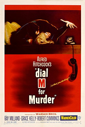 Alfred Hitchcock Movie Posters (Dial M for Murder (1954) Movie Poster 24x36 inches Alfred Hitchcock)