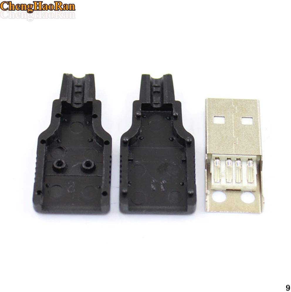 Cable Length: 200PCS ShineBear 100PCS 200pcs 300pcs USB 2.0 Connector Male USB 4 Pin Plug Socket Connector Soldering DIY USB Cable Parts