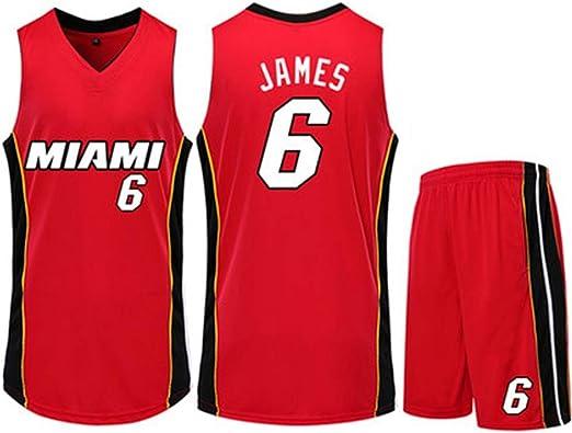 HS-QIAN1 6# Conjunto De Camiseta De Baloncesto Lebron James Miami ...