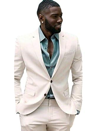 Wzw Coat Pant Designs White Men Suits Groom Prom Tuxedo 2 Piece