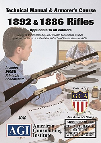 American Gunsmithing Institute Armorer's Course Video on DVD for 1892 & 1886 Rifles - Technical Instructions for Disassembly, Cleaning, Reassembly and More
