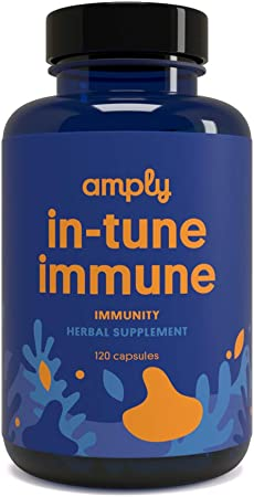 Amply Blends   in-Tune Immune   Herbal Supplement   Immunity Capsules   120-Count