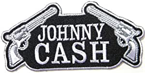 1 x johnny cash country music band logo patch for Cash piscine 64 idron