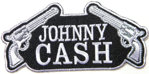 1 X JOHNNY CASH Country Music Band Logo Patch Sew Iron on Embroidered Appliques Badge Sign Costume Gift by PRINYA SHOP