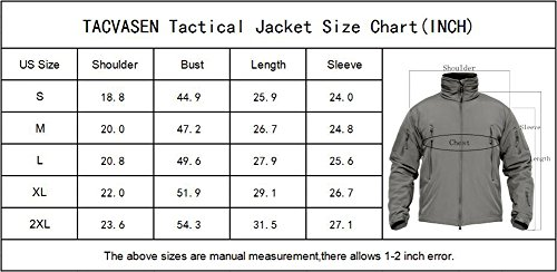 TACVASEN Men's Outdoor Vintage Classic Durable Military Tactical Jacket Coat Sand,US M(fit chest:35''-38'') by TACVASEN (Image #6)