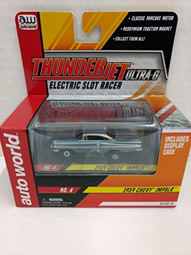 Scale Electric Slot Car - Auto World SC314 1959 Chevy Impala ThunderJet Ultra-G HO Scale Electric Slot Car - Steel Blue